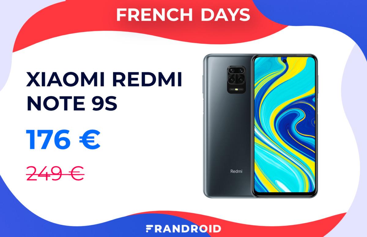 Le Xiaomi Redmi Note 9S est encore moins cher durant les French Days