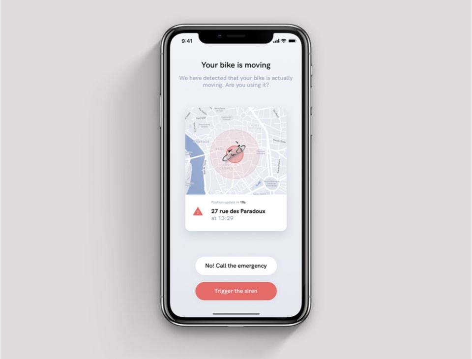 Angell permet de géolocaliser son vélo sur l'app
