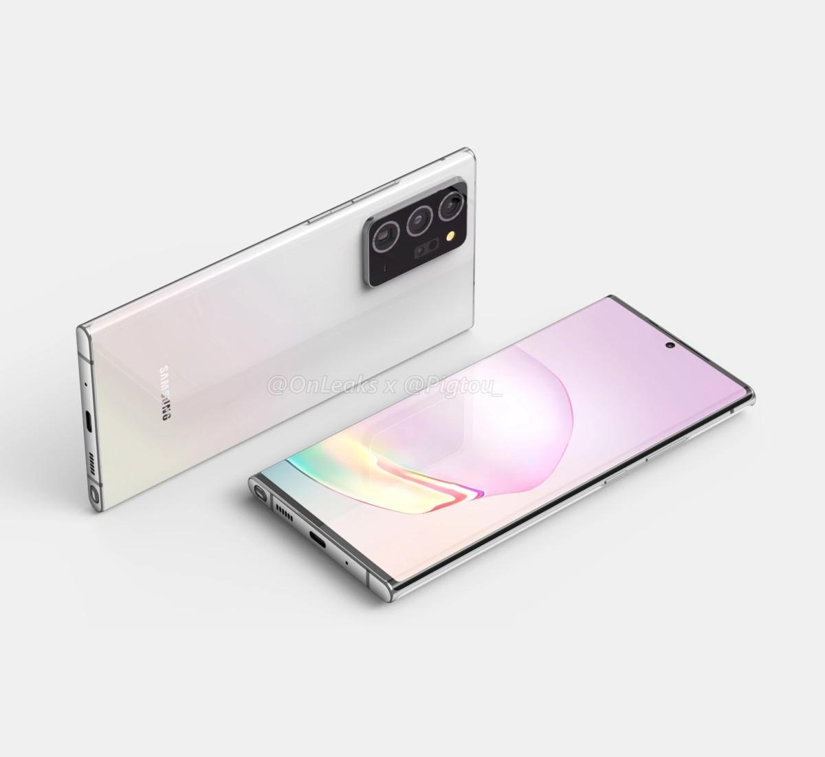 Rendu 3D du Samsung Galaxy Note 20 Plus