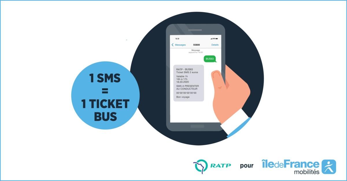 Un SMS, un ticket de bus, et vous voilà avec votre titre de transport en poche