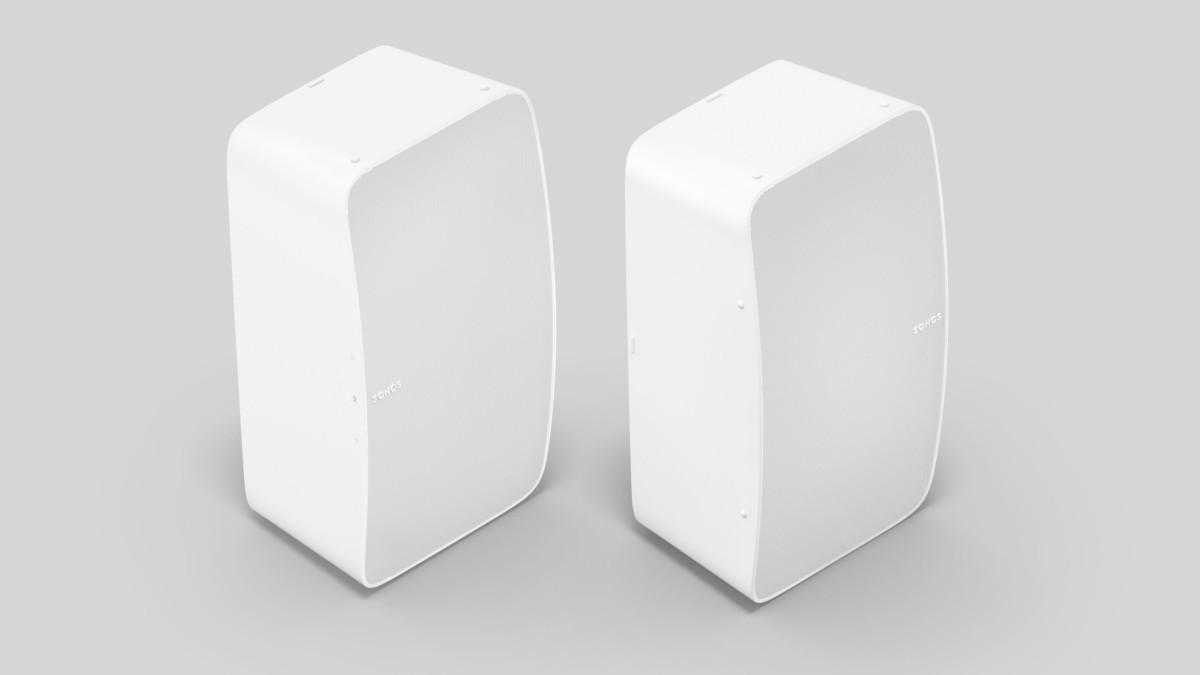 Vous pouvez associer deux Sonos Five en position verticale pour une séparation stéréo