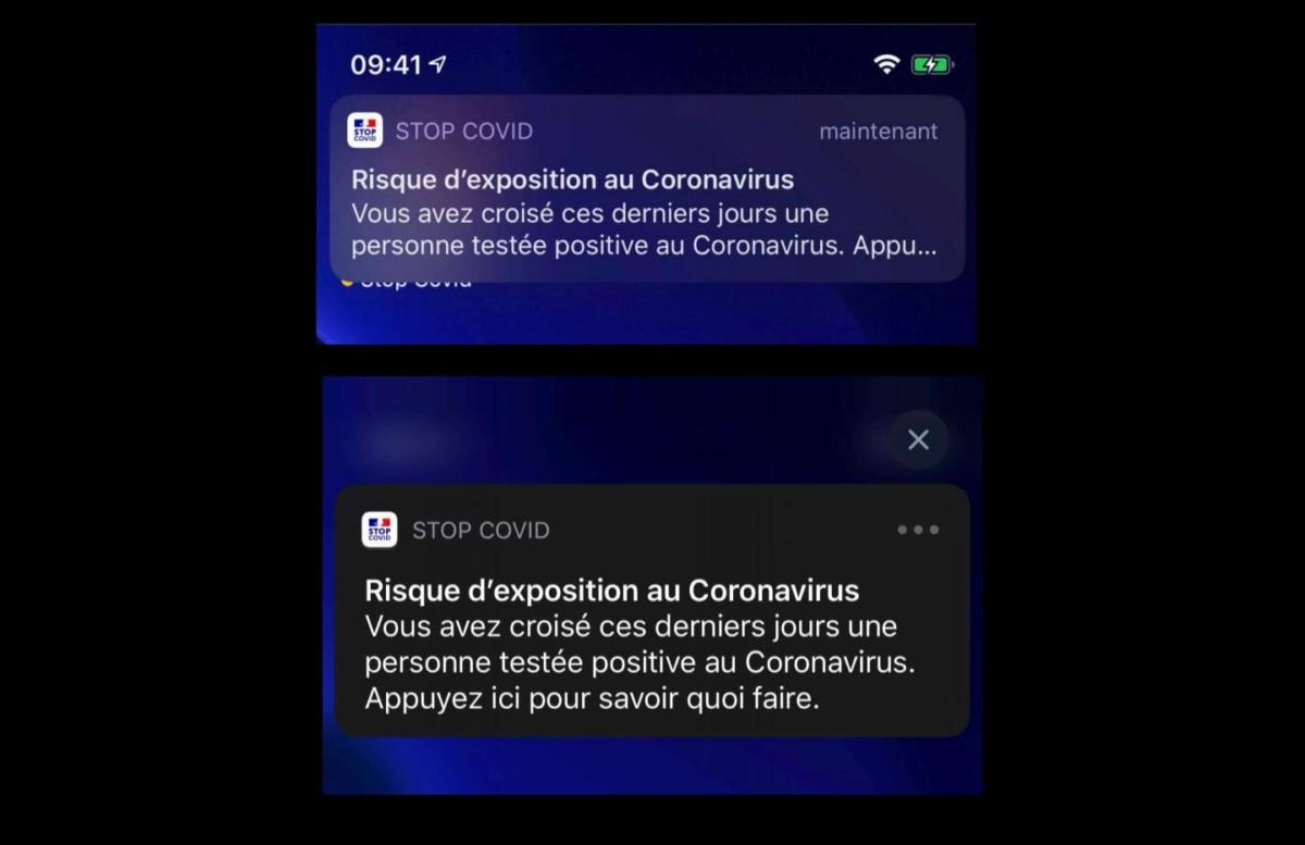 Exemple de notifications iOS que vous pouvez recevoir