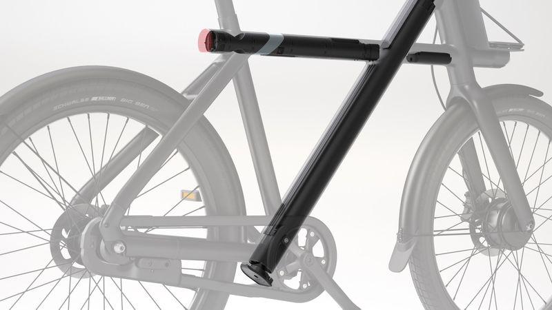 Les vélos Vanmoof ont une batterie non amovible discrètement intégrée dans le cadre