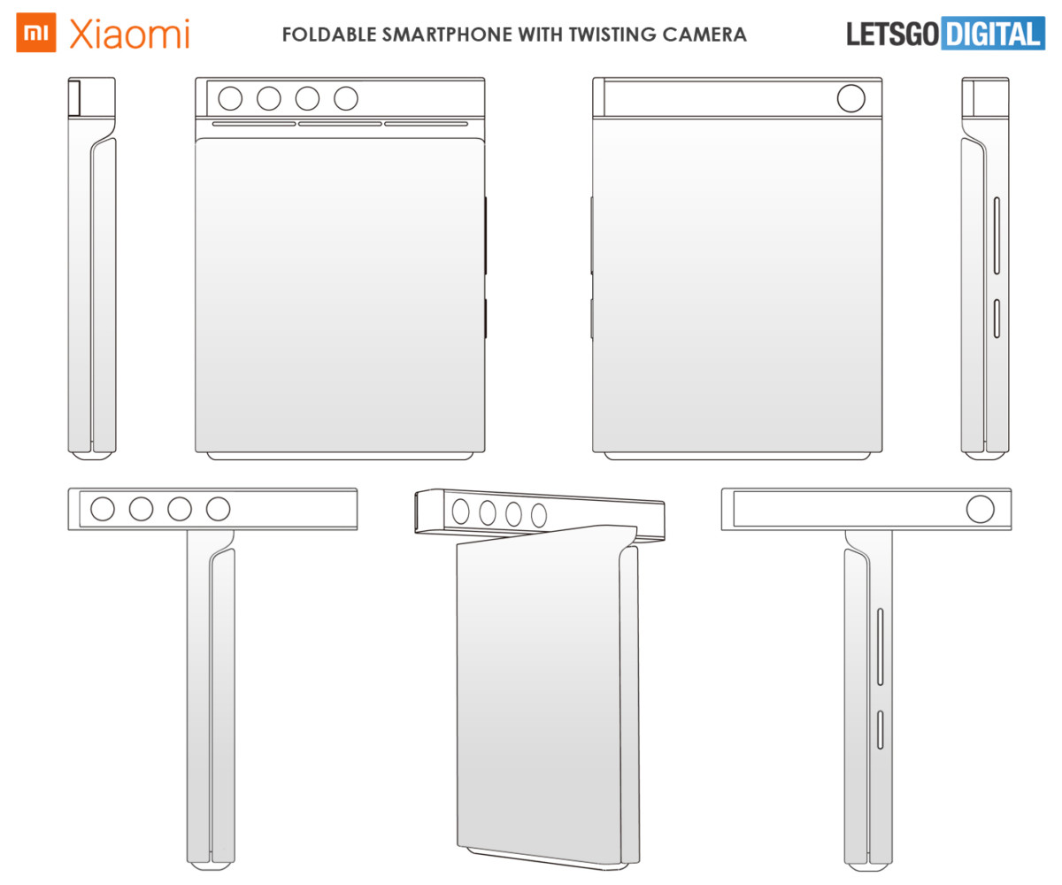 Brevet Xiaomi d'un smartphone avec appareil photo pivotant