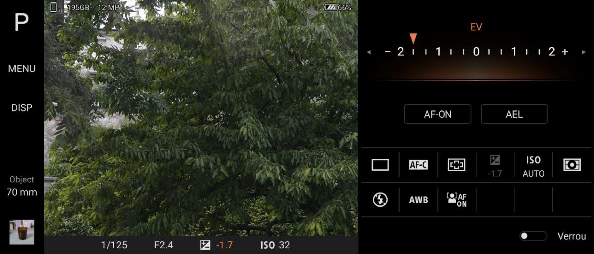 L'application Photo Pro du Sony Xperia 1 II