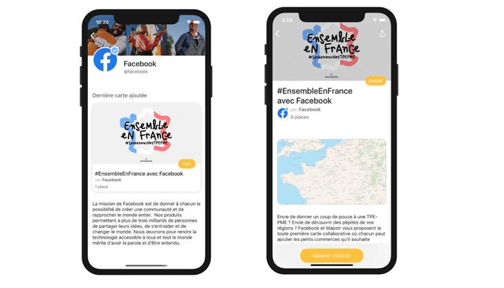 L'appli #EnsembleEnFrance de Facebook et Mapstr