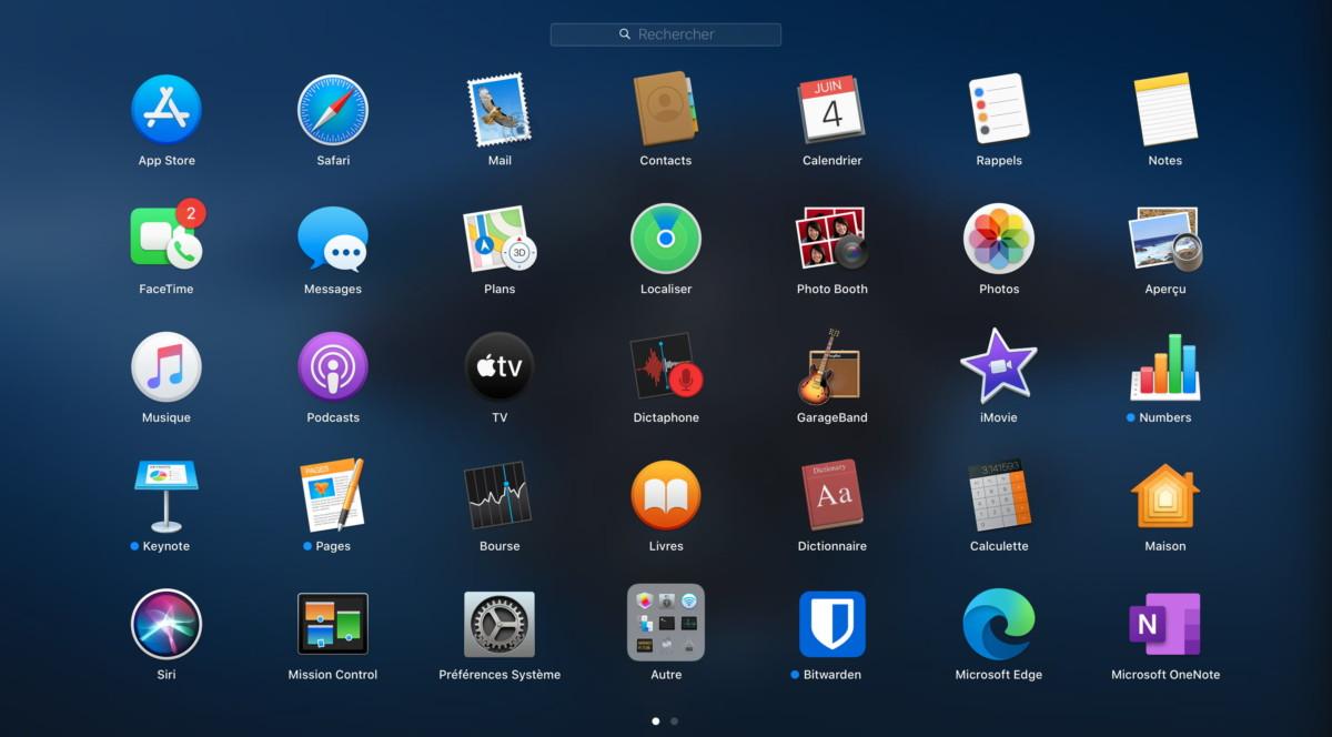 macOS intègre une large suite d'outils Apple
