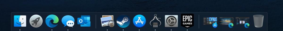 Le dock de macOS remplace la barre des tâches