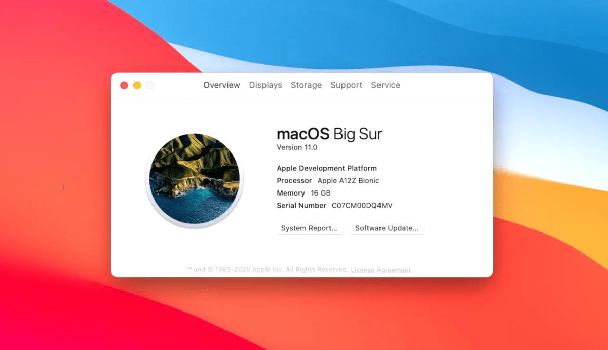 MacOS Big Sure est déjà compatible avec le processeur A12Z Bionic d'Apple