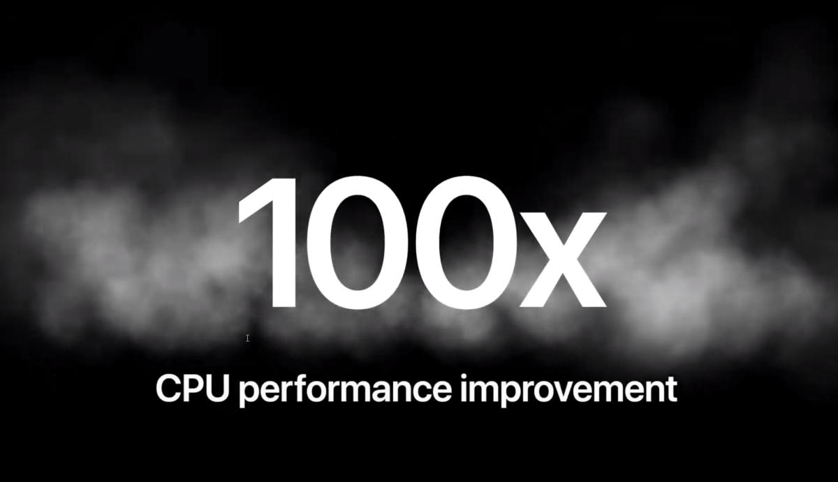 Selon Apple, le processeur de l'iPhone 11 est 100 fois plus puissant que celui du premier modèle