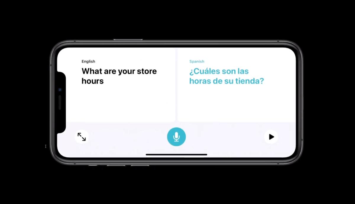 L'application Apple Translate en mode conversationnelle