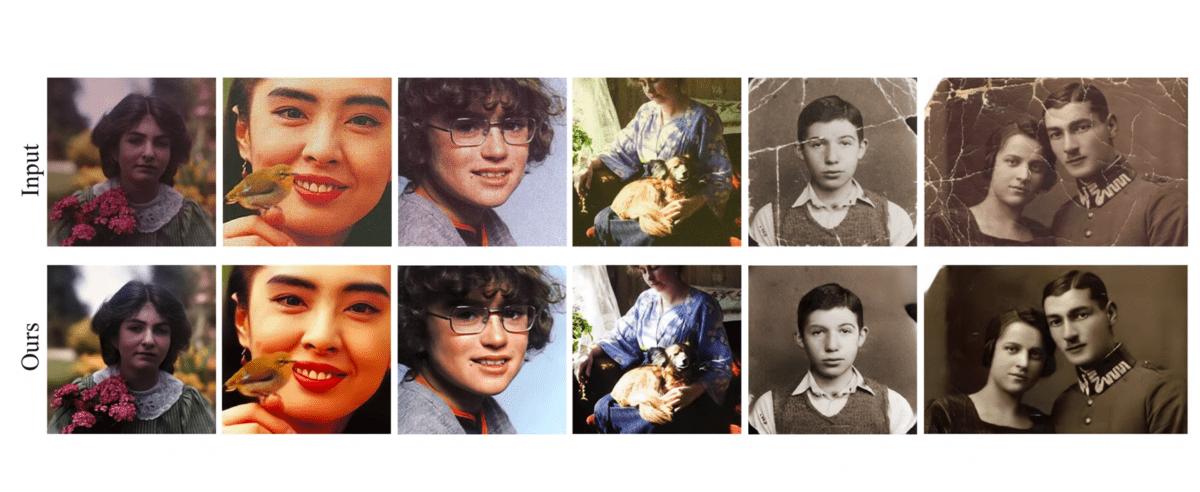 Des exemples de restauration de photo par l'IA de Microsoft