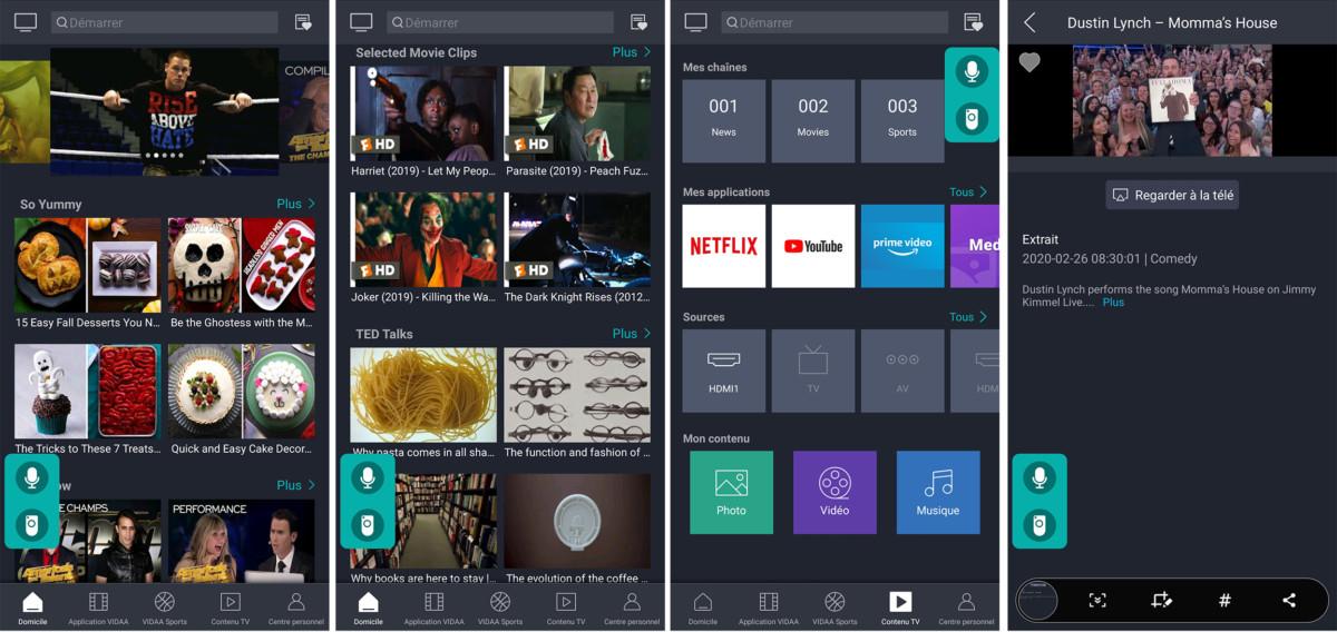 L'application mobile permet de piloter et diffuser des contenus