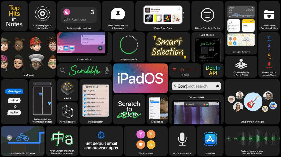 Les nouveautés sur iPadOS 14