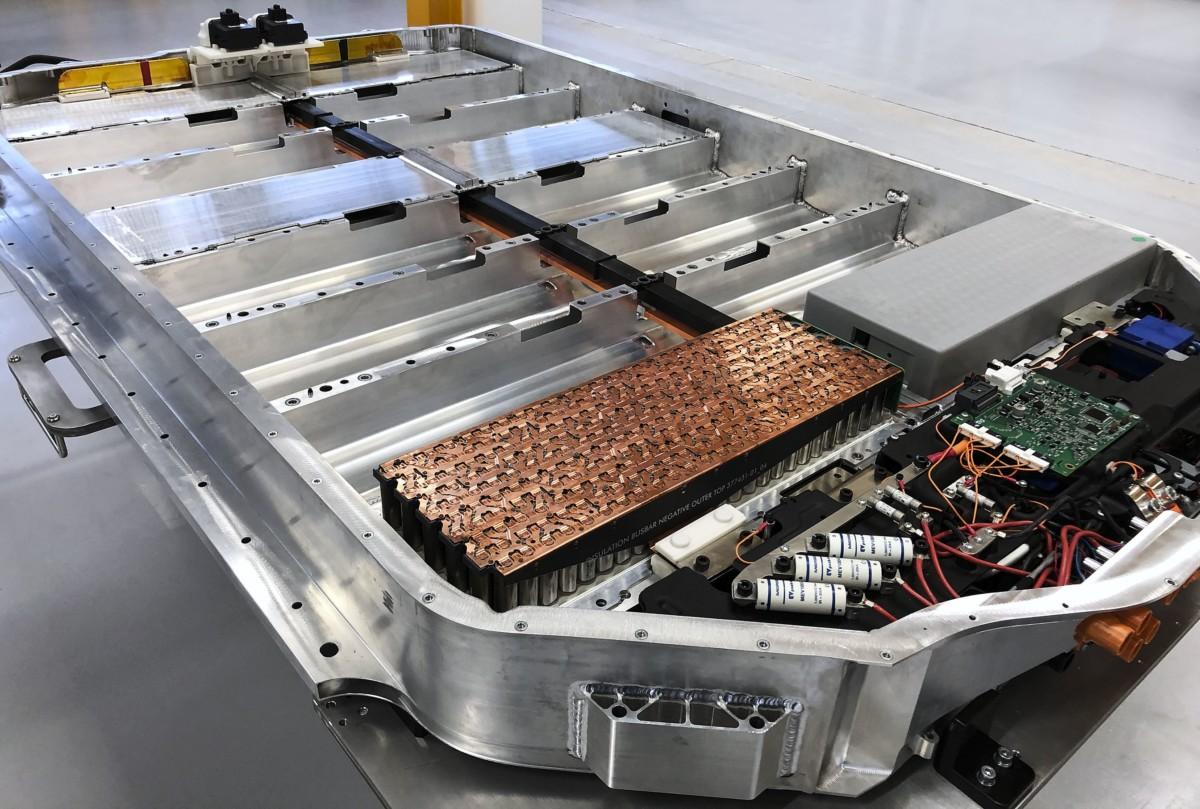 Le châssis et les batteries du SUV électrique