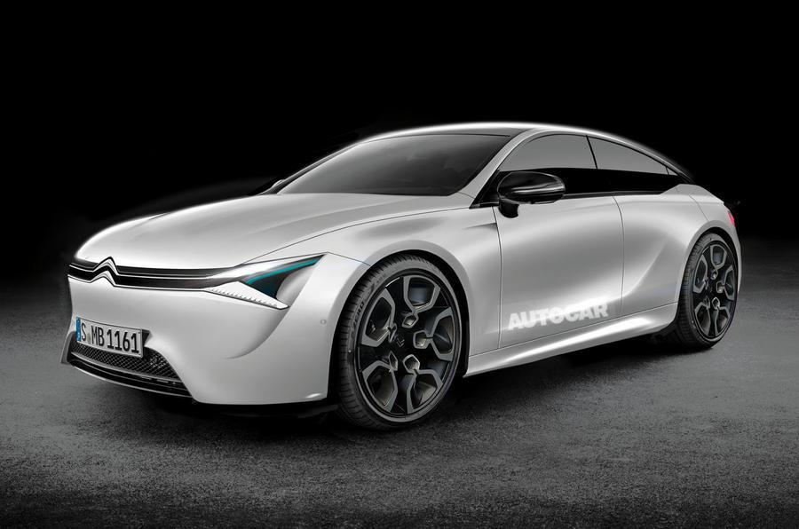 Rendu 3D Citroën berline hybride