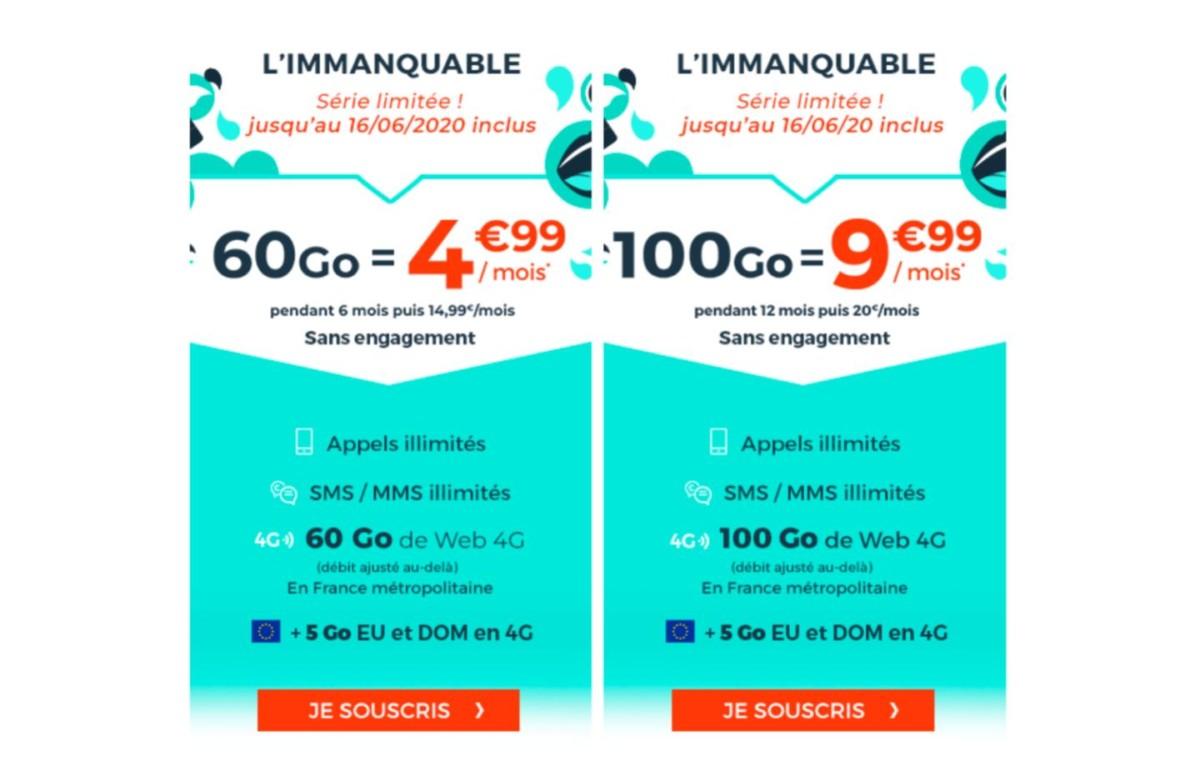 60 Go à 4,99 € ou 100 Go à 9,99 € : quel forfait mobile en promotion choisir ?