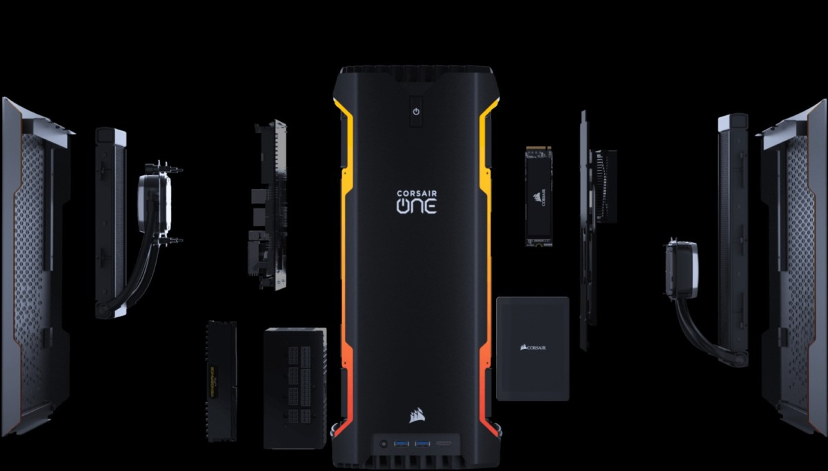 L'architecture interne du Corsair One A100