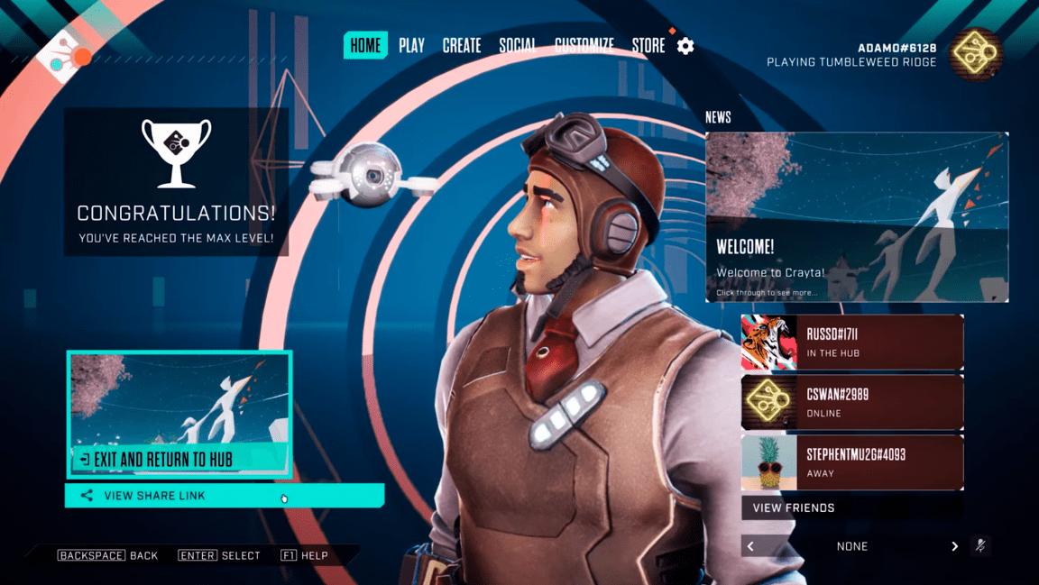 Avec la fonction State Share, Crayta permet d'inviter d'autres joueurs dans votre jeu