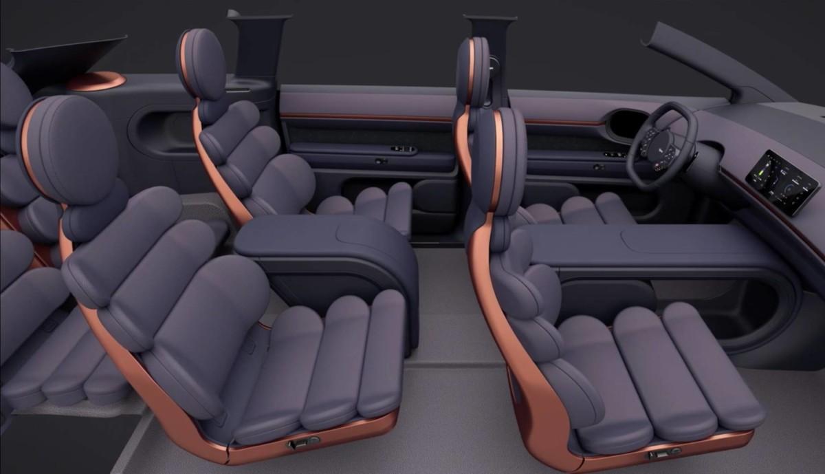 L'intérieur du prototype de SUV électrique de Dyson