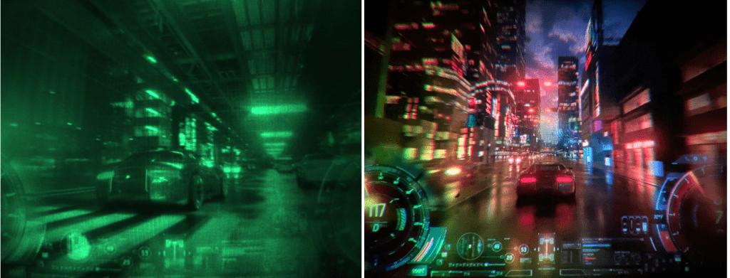 La différence entre la réalité (à gauche) et l'objectif (à droite)