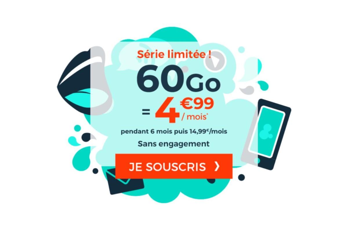 30 Go à 2,99 € ou 60 Go à 4,99 € : quel forfait mobile en promotion choisir ?