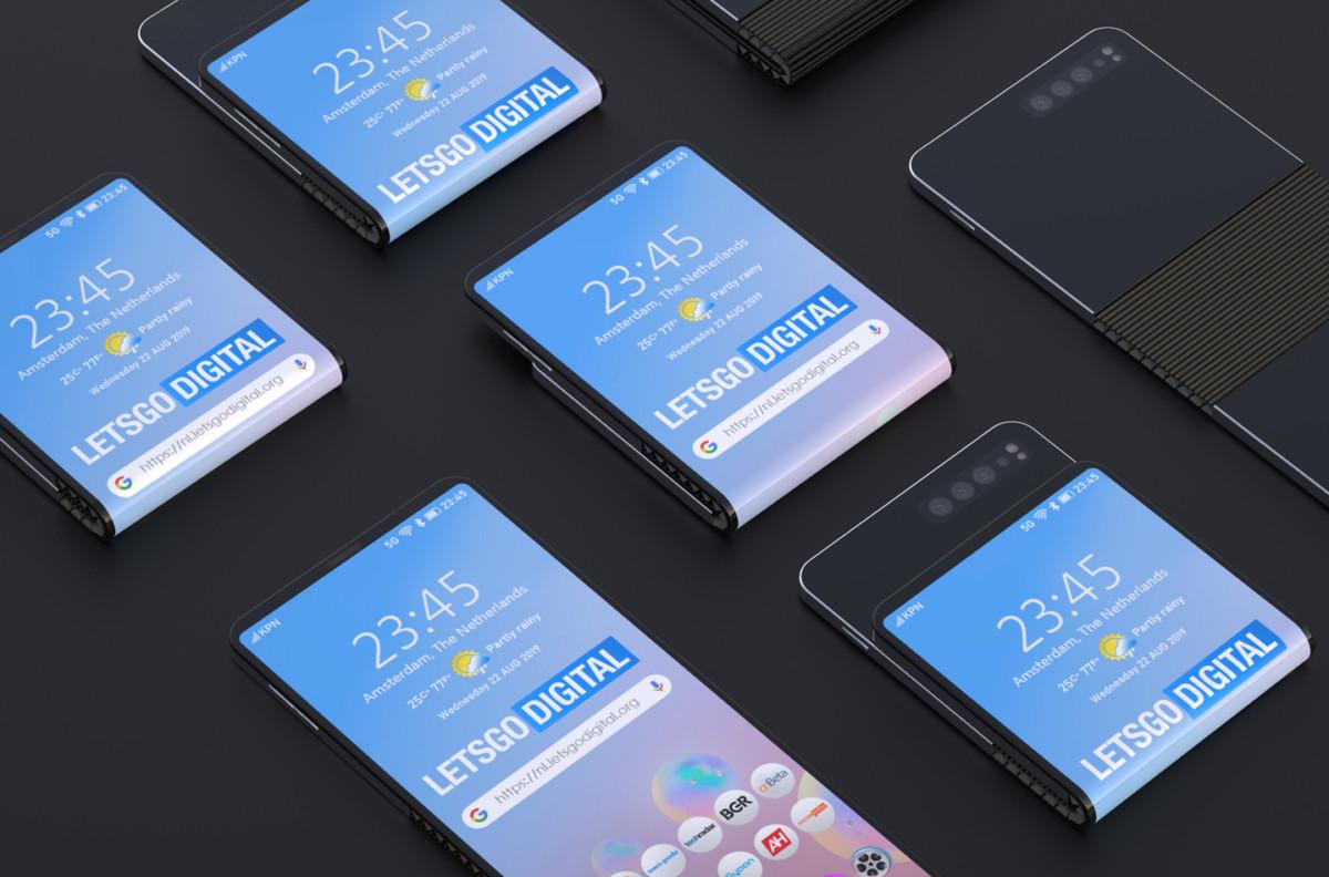 Concept de smartphone pliable Samsung