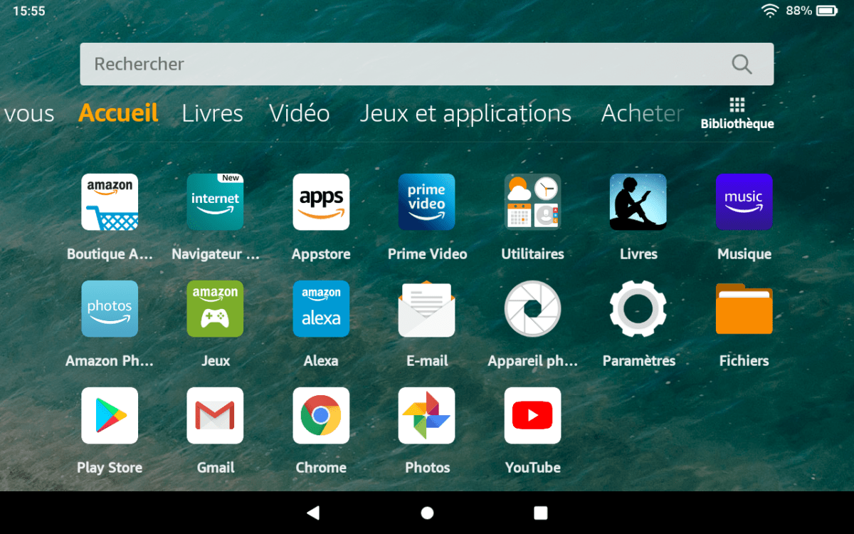 Amazon Fire HD 8 2020 : comment installer le Google Play Store