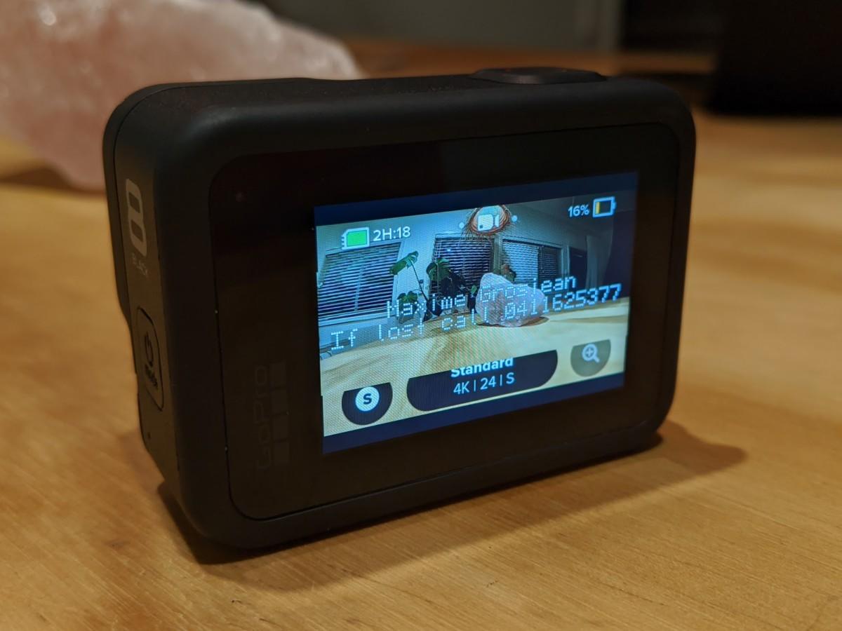 Mes informations s'affichent désormais à l'allumage de ma GoPro