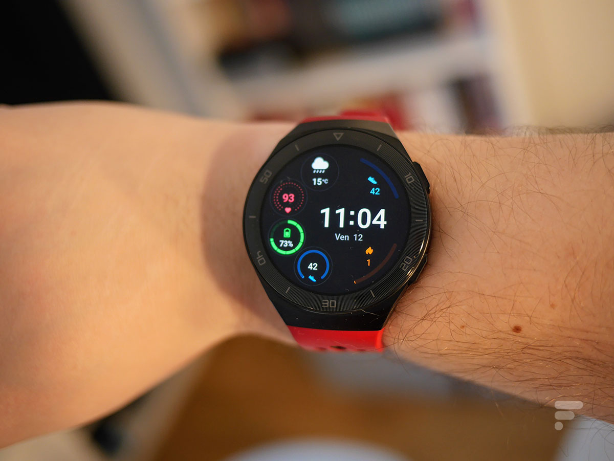 L'écran de la Huawei Watch GT 2e