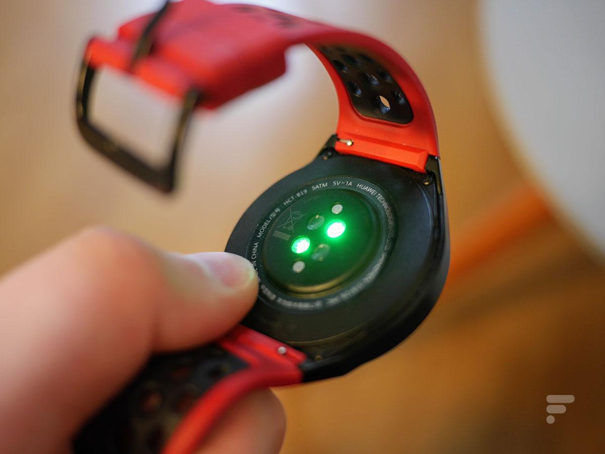 Le capteur de rythme cardiaque de la Huawei Watch GT 2e