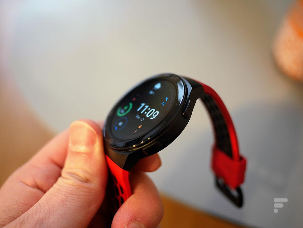 Les boutons de la Huawei Watch GT 2e