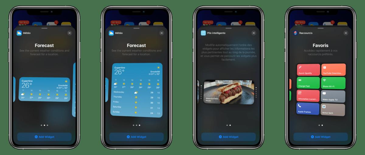 La première bêta d'iOS 14 n'offre que quelques widgets officiels