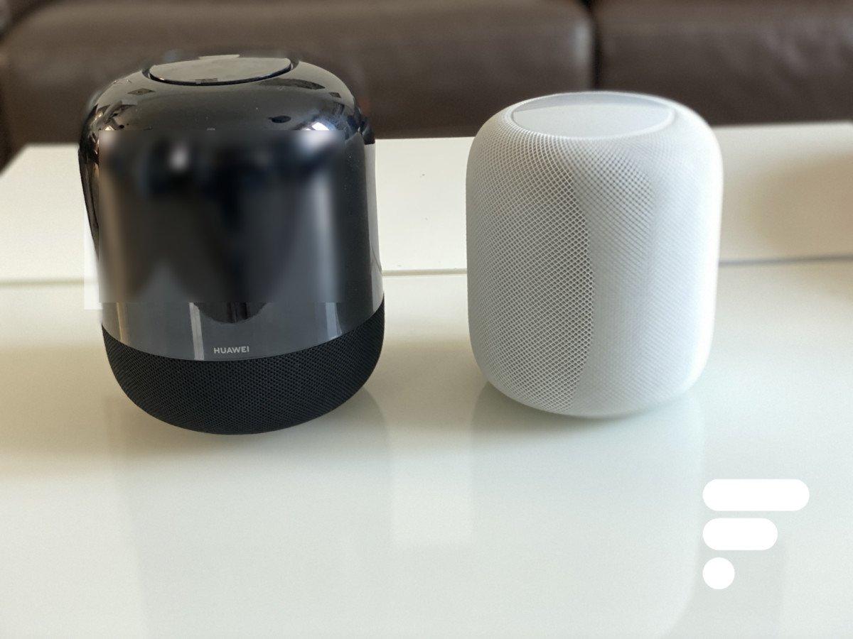 Les enceintes connectées Huawei Sound X et Apple HomePod