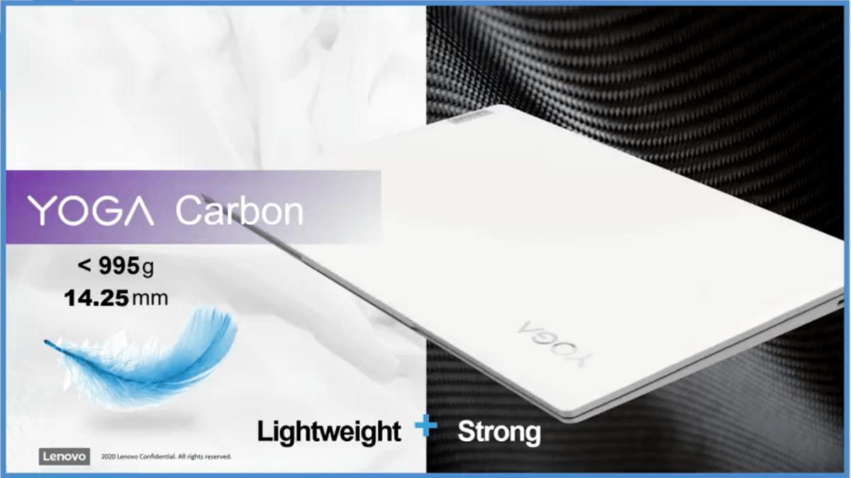 Léger, performant et endurant, c'est visiblement la promesse de Lenovo pour son nouveau Yoga Carbon
