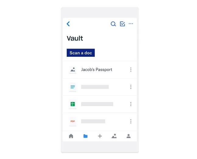 Dropbox Vault