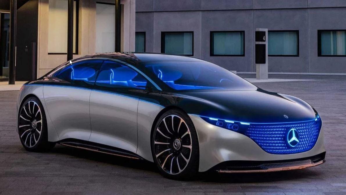 Le concept-car Mercedes Vision EQS.
