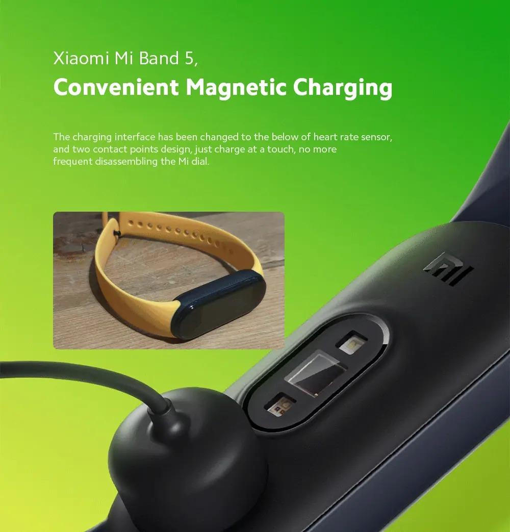 La charge magnétique du Xiaomi Mi Band 5