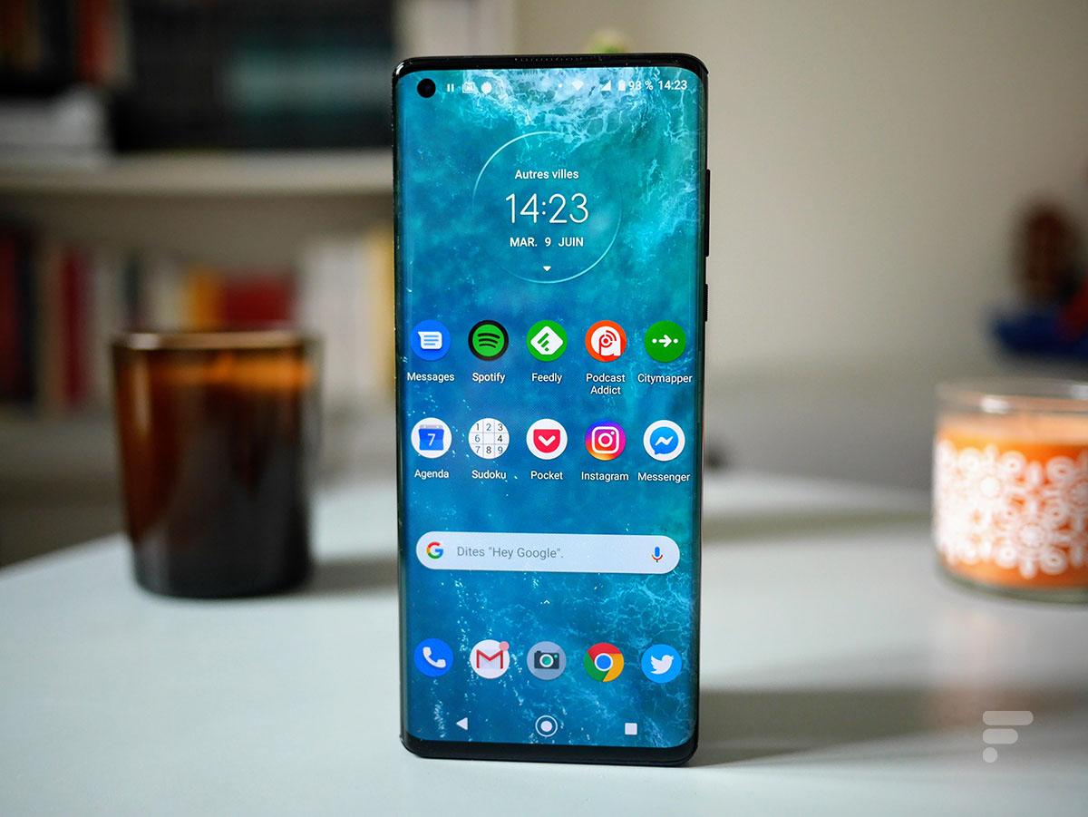 L'écran du Motorola Edge