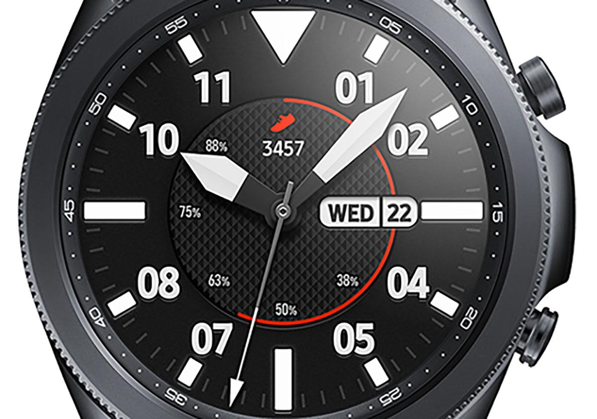 Un rendu presse de la Galaxy Watch 3 indiquant la date du 22 juillet