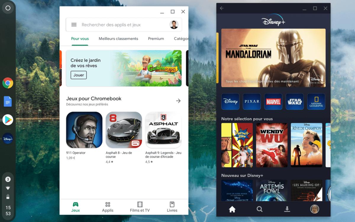 Le Play Store et l'app Disney+