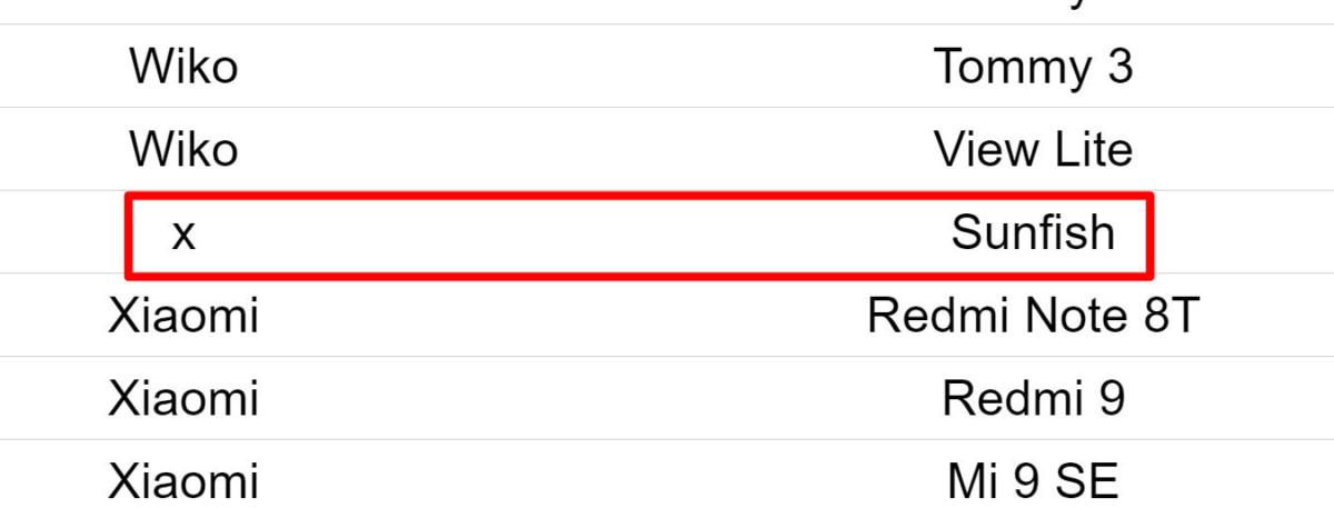X Sunfish dans la liste des smartphones compatibles StopCovid