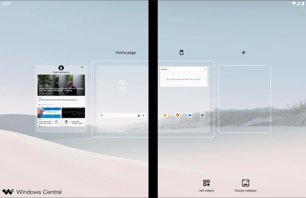 L'affichage du Microsoft Surface Duo