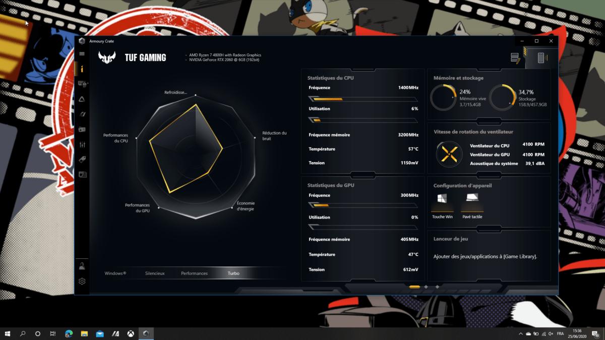 Le logiciel Armoury Crate