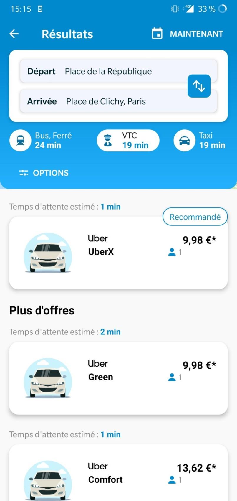 Assistant SNCF et Uber