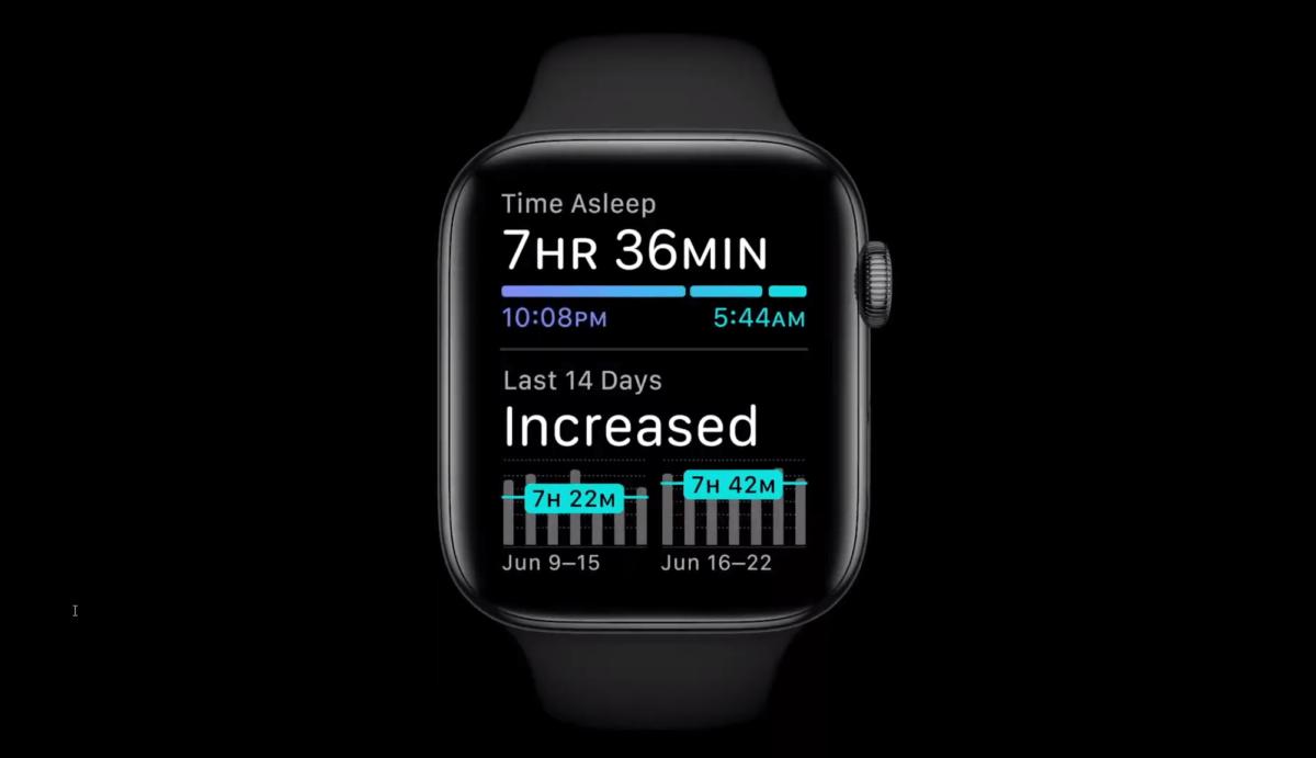Le suivi du sommeil sur WatchOS 7