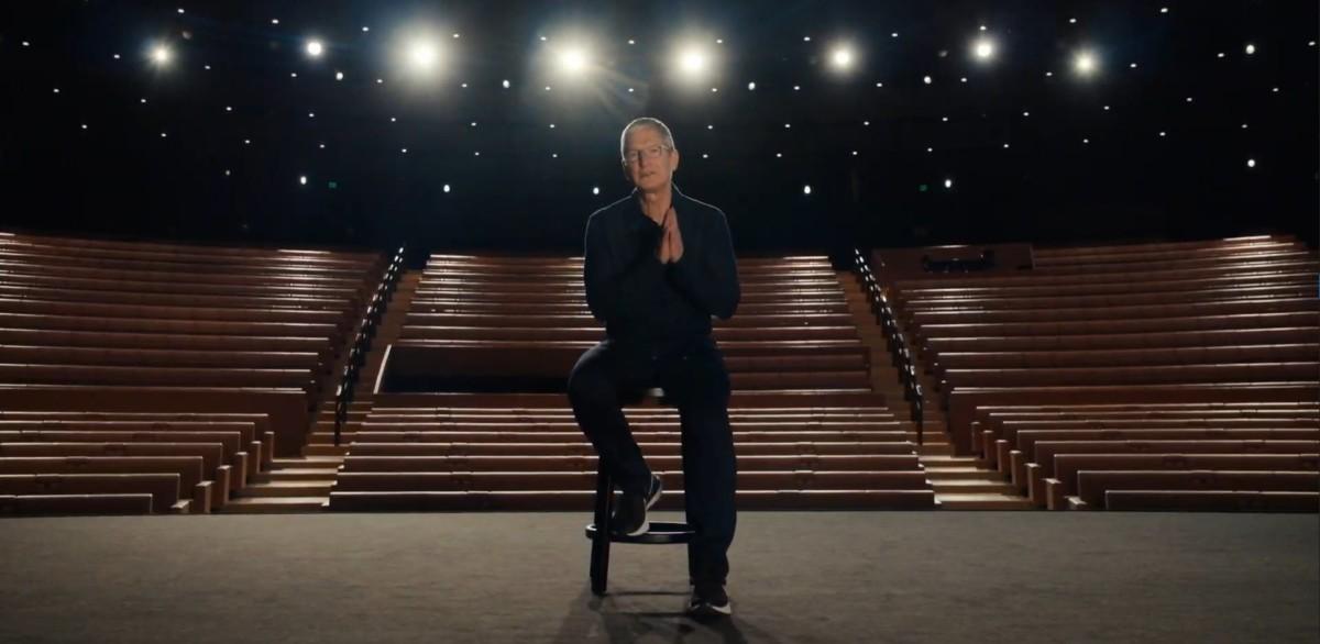 Tim Cook, le patron d'Apple lors de la WWDC 20
