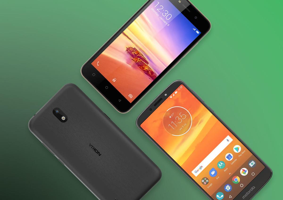 Des smartphones équipés d'Android Go Edition