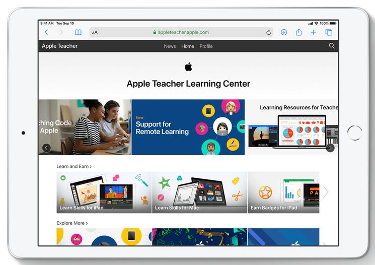 Apple met en ligne des outils pour l'apprentissage en ligne