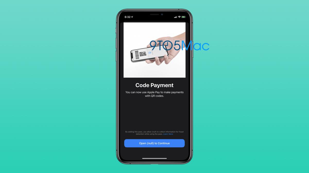 L'illustration du paiement par QR Code sur Apple Pay
